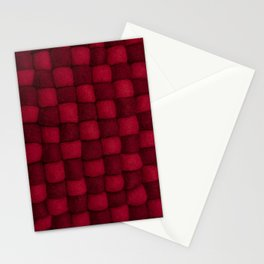 The world of wool - red and wine Stationery Cards