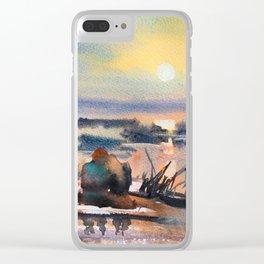 Honey Coloured Sunrise Clear iPhone Case