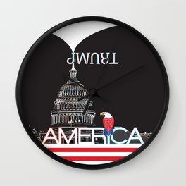 Trump Trumpet Prophetic Political Comic - Night Wall Clock