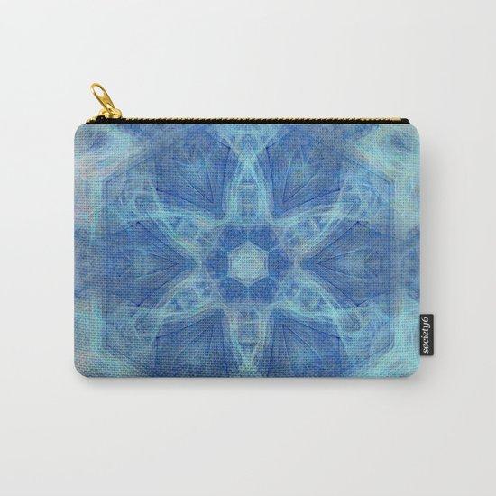 Wispy fairy kaleidoscope in blue Carry-All Pouch