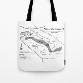 Lake O' The Woods Map O' The Grounds Tote Bag