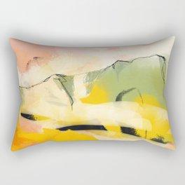 landscape abtract - paysage jaune Rectangular Pillow