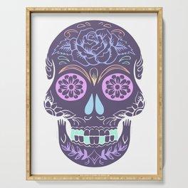 Day of the Dead Pastel Skull (Dia de los Muertos) Serving Tray