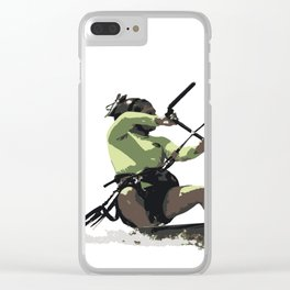 Going With The Wind Kiteboarding Vector Clear iPhone Case