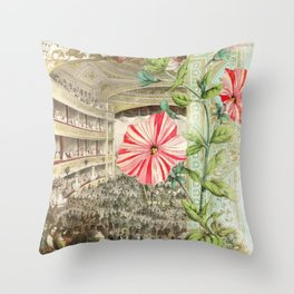 A Night At The Theatre Throw Pillow