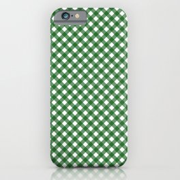 Checkered Green Gingham iPhone Case