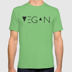 vegan me MEDIUM Grass Mens Fitted Tee