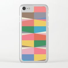 Blooming Triangles Clear iPhone Case