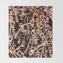 skeleton key Throw Blanket