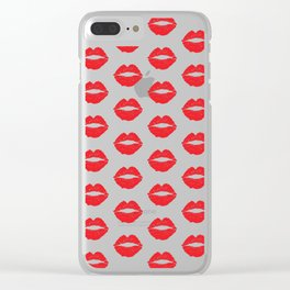 Red Lips Clear iPhone Case