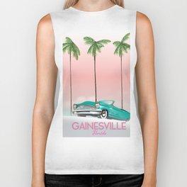Gainesville Florida retro travel poster. Biker Tank