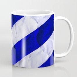 Crumbled Navy Stripes Coffee Mug