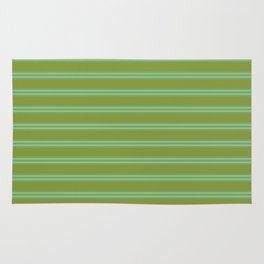 baby poo + mint stripes Rug