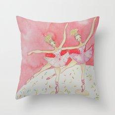 Cupcake Ballerinas Confetti Throw Pillow
