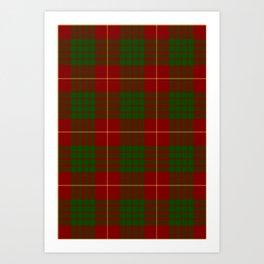 Cameron Red & Green Tartan Pattern #2 Art Print