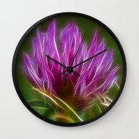 clover Wall Clocks featuring Clover by Best Light Images