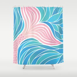 Pink Mermaid's Tail Shower Curtain