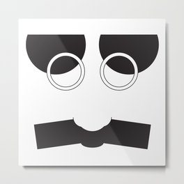 Face Groucho Graphic Metal Print
