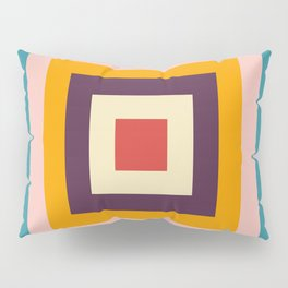 Retro Colored Square Space Pillow Sham