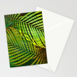 TROPICAL GREENERY LEAVES no1 Stationery Cards