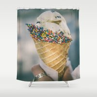 sprinkles Shower Curtains featuring Sprinkles by Amanda Lily