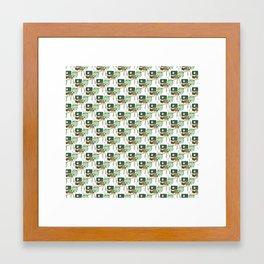 record pattern 3 Framed Art Print