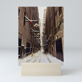Chicago Winter Alley Mini Art Print