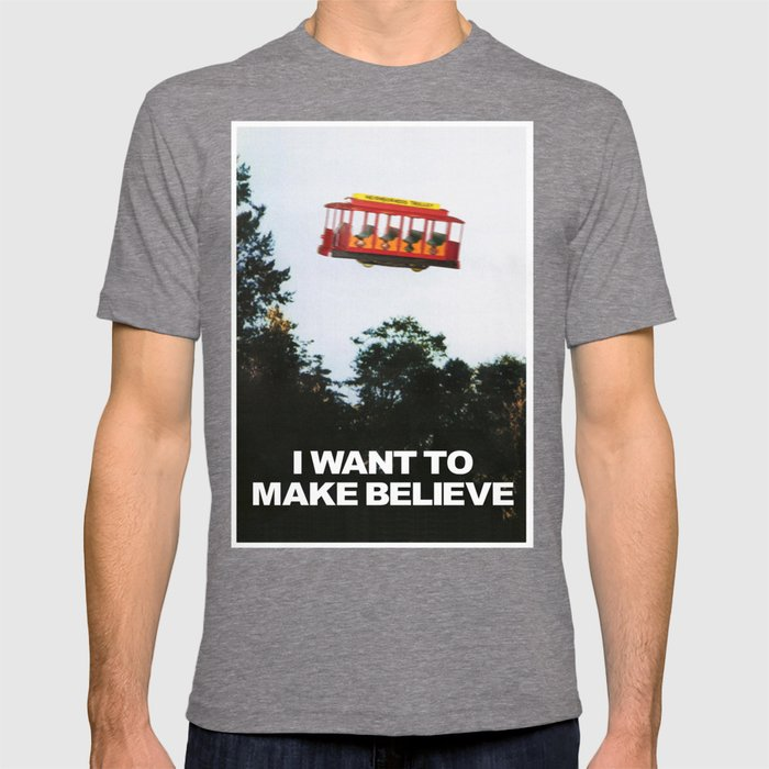 88eefa6fd I WANT TO MAKE BELIEVE Fox Mulder x Mister Rogers Creativity Poster T-shirt  by pissandvinegar | Society6