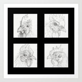 Chickens 1 Art Print