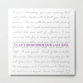 Last Kiss  Metal Print