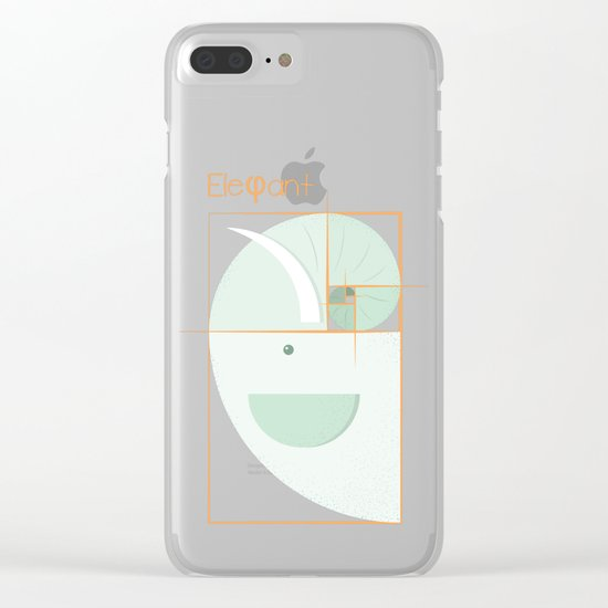 Fibonacci elephant Clear iPhone Case