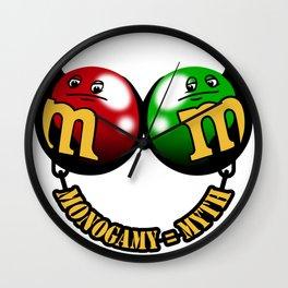 Monogamy myth Wall Clock
