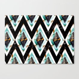 Art deco marble pattern 20s #homedecor Canvas Print