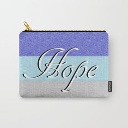 HOPE on Blue Carry-All Pouch