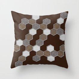 Stones on brown Throw Pillow