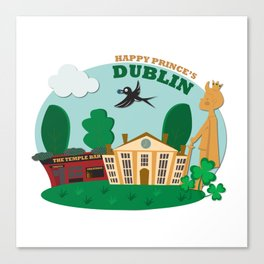 Happy Prince's Dublin Canvas Print