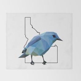 Idaho – Mountain Bluebird Throw Blanket