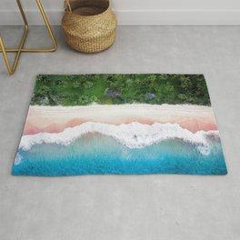 Aerial Tropical Beach Rug