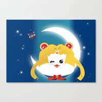 sailormoon Canvas Prints featuring SailorMoon MeyMey by Raimondo Tafuri