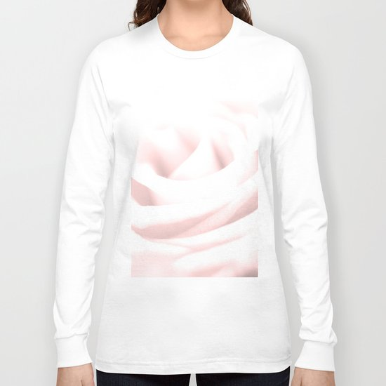 GENTLENESS #2 - Rose in Rose Quartz #decor #art #society6 Long Sleeve T-shirt