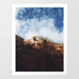 Foggy Zion Art Print