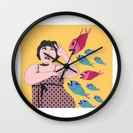 pez koi ataque Wall Clock