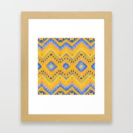 itzel - pineapple + azure Framed Art Print