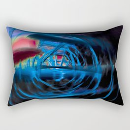 Energetic dark blue and red spiral Rectangular Pillow