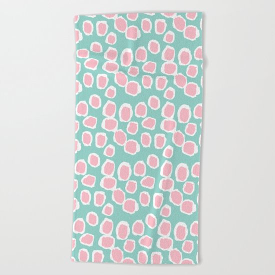 Hayden - abstract trendy gender neutral colorful bright happy dorm college decor pattern print art Beach Towel