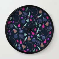rogue Wall Clocks featuring Rogue Life by Tay Silvey