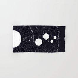 Stellarum Ordo Solaris: A map of our Solar system Hand & Bath Towel