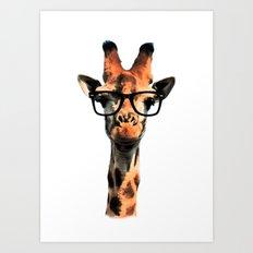 Hipster Giraffe Art Print