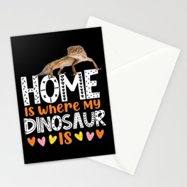 Leopard Gecko Home Is Where My Dinosaur Is Stationery Cards