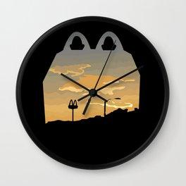 Sunset over McDonalds Wall Clock